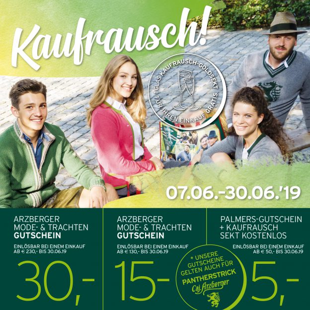 Kaufrausch bei Kaufhaus Arzberger in Mariazell